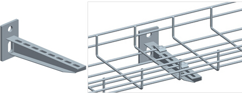 Wall Mounting Solutions For Wire Mesh Cable Trays - Bonet Cable Tray