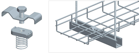 Ceiling Mounting Solutions For Wire Mesh Cable Trays