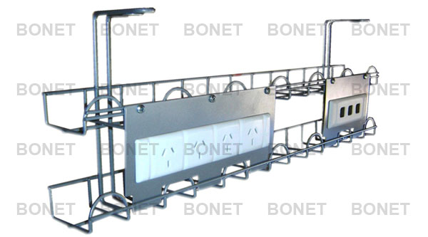 Special and Customized Wire Basket Cable Tray, Under Desk Cable ...